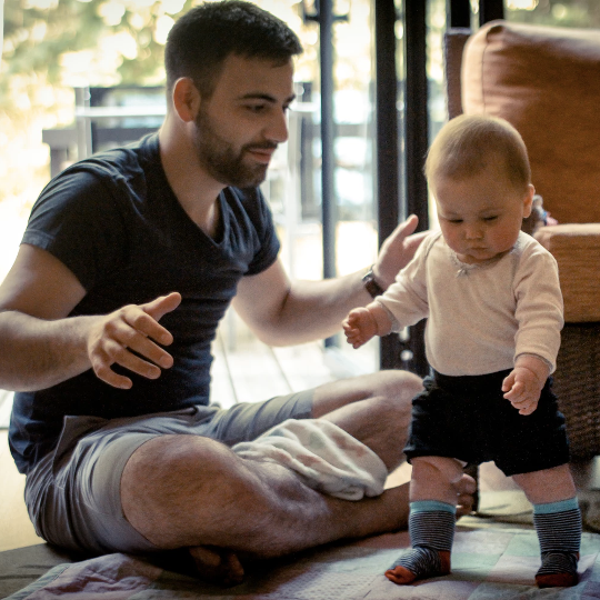 Decorative photo of parent and child