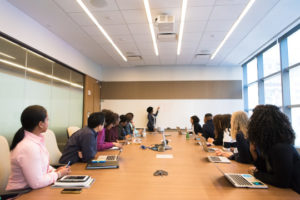 Decorative photo of students in classroom