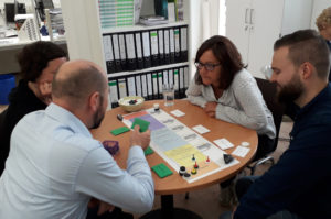 Photo of workshop participants playing game