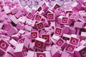 Decorative photo of pink legos