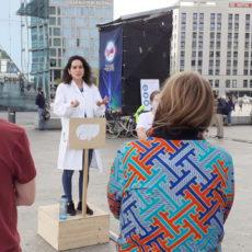 Photo of previous Soapbox Science event