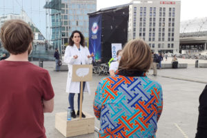 Photo of past Soapbox Science event