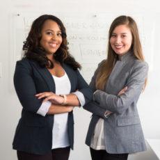 Decorative photo of two confident women