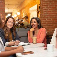 Decorative photo of women networking