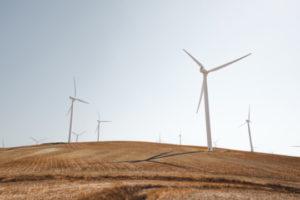 Decorative photo of wind turbines
